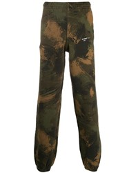 Off White Camouflage Track Trousers Green