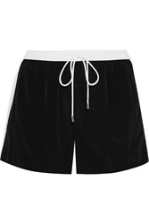 Michael Michael Kors Crepe De Chine Shorts Black