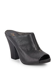 Seychelles Propaganda Open Toe Leather Mules Black