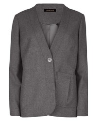 Jaeger Pleat Pocket Detail Jacket Grey