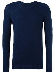 Nuur Elbow Patch Jumper Blue