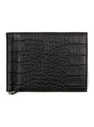 Topman Black Crocodile Effect Leather Wallet