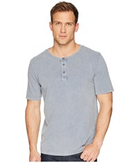 Mod O Doc Montecito Short Sleeve Henley Grey Sky Stone Short Sleeve Knit Gray