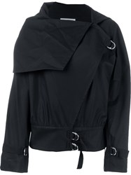 J.W.Anderson J.W. Anderson Cowl Neck Buckle Detail Jacket Black