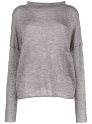 Ma'ry'ya Roll Neck Sweater Grey