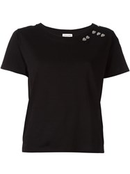 Saint Laurent Heart Stud T Shirt Black