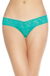 Women's Hanky Panky 'Signature Lace' Low Rise Thong Green Sweet Mint