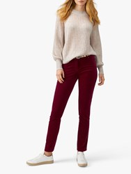 Pure Collection Washed Velvet Jeans Berry