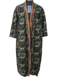 Phenomenon 'Woodland Kimono' Military Coat Multicolour