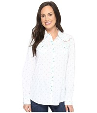 Ariat Grand Snap Shirt White Multi Women's Long Sleeve Button Up