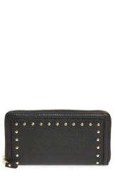 Cole Haan Cassidy Leather Rfid Continental Zip Wallet Black