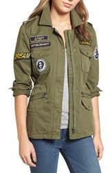 Velvet By Graham And Spencer Women's Patched Army Jacket