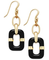 Charter Club Link Drop Earrings Only At Macy's Black