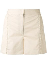 Paul Smith Ps By Ruffle Shorts Women Cotton Viscose 40 Nude Neutrals
