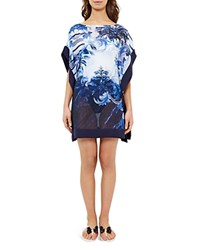Ted Baker Persian Blue Tunic Swim Cover Up Dark Blue