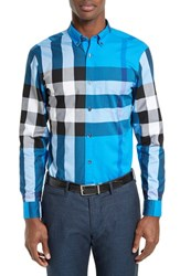Burberry Men's Exploded Check Sport Shirt