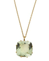 Roberto Coin Ipanema 18K Square Green Amethyst Pendant Necklace Women's