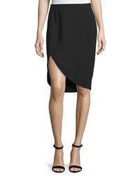 Halston Heritage Cutaway Pencil Skirt Black