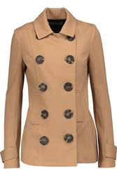Bailey 44 Double Breasted Stretch Ponte Jacket Tan