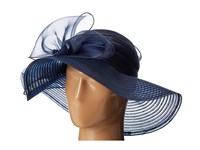 San Diego Hat Company Drs1010 Derby Round Crown With Organza Oversized Bow Navy Traditional Hats