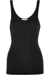 James Perse The Daily Ribbed Stretch Cotton Tank Black