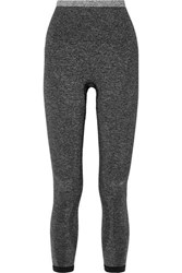 Lndr Tone Cropped Stretch Knit Leggings Gray