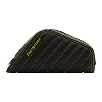 Balenciaga Black And Yellow Car Clutch