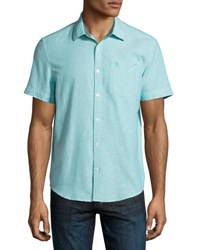 Original Penguin Short Sleeve Oxford Shirt Blue