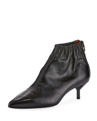 3.1 Phillip Lim Blitz Ruched Leather Bootie Black