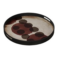 Notre Monde Pinot Layered Dots Glass Tray Round Small