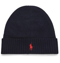 Polo Ralph Lauren Embroidered Wool Beanie Midnight Blue