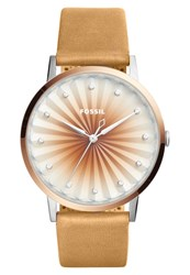 Fossil Vintage Muse Watch Hellbraun Rose Gold