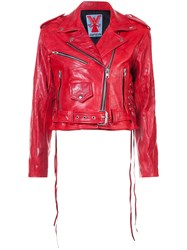 Adaptation Biker Jacket Leather Red