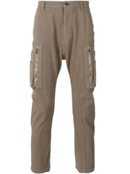 Helmut Lang Cargo Pocket Tapered Trousers Men Cotton Spandex Elastane 31 Nude Neutrals