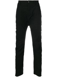 Poeme Bohemien Dropped Crotch Trousers Black