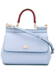 Dolce And Gabbana 'Sicily' Mini Bag Women Calf Leather Metal One Size Blue