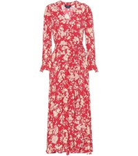 Polo Ralph Lauren Floral Wrap Dress Red