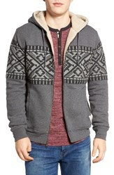 Lucky Brand Men's Siberian Faux Shearling Lined Hoodie
