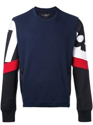 Hydrogen Techno Sweatshirt Blue