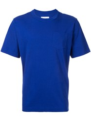 Sacai Crew Neck T Shirt Men Cotton Iii Blue