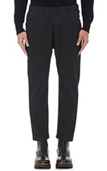 Barena Venezia Men's Cotton Blend Jacquard Trousers Black