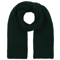 John Lewis And Co. Fisherman Ribbed Wool Scarf Green