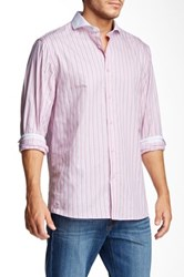 Brio Striped Long Sleeve Contemporary Fit Shirt Multi