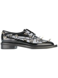 Coliac Piercing Embellished Derby Shoes Black