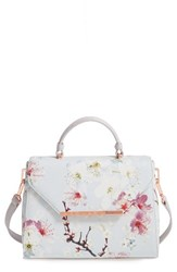 Ted Baker London Small Cherry Blossom Faux Leather Satchel