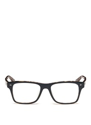 Ray Ban Two Tone Square Frame Acetate Optical Glasses Green