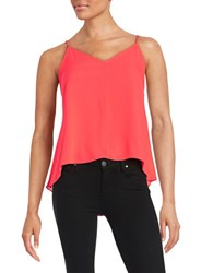 Design Lab Lord And Taylor V Neck Tank Coral