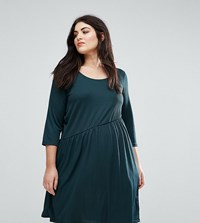 Junarose Skater Dress Green