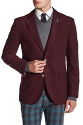 Tailorbyrd Solid Notch Collar Sportcoat Red