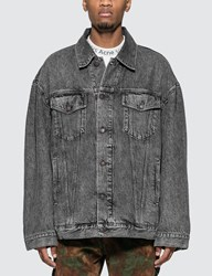 Acne Studios Oversized Denim Jacket Black